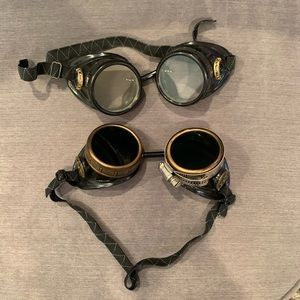 Other - Black Steampunk Victorian Goggle Glasses